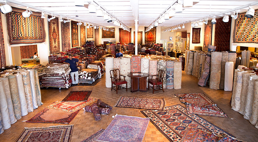 Interior of Minasian Oriental Rugs