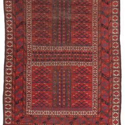 "Antique Afghan Ersari Ensi 4'8""×6'8"""
