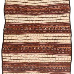 "Antique Afghan Flatweave 6'8""×10'4"""