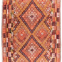"Antique Afghan Kilim 10'9""×15'7"""