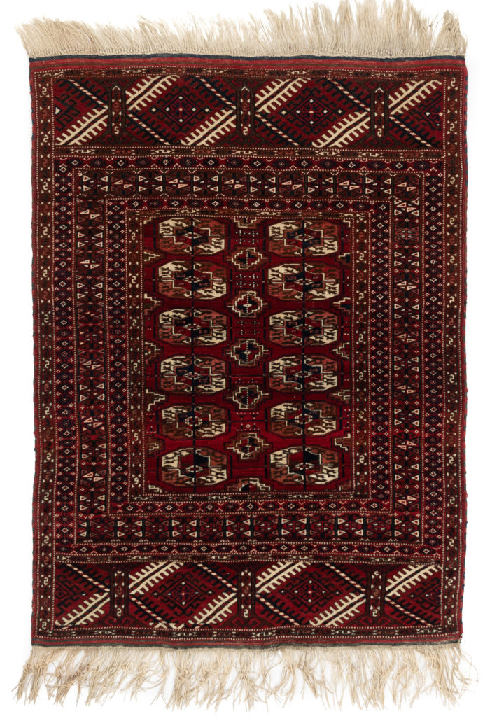 "Antique Afghanistan Bokhara Rug Area Rug 3'8""×5'0"""