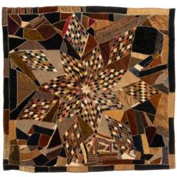"""Antique American Velvet Quilt 5'8""""×5'11"""""""