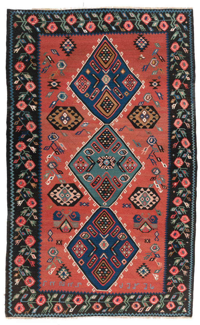 "Antique Armenian Kilim 6'1""×10'0"""