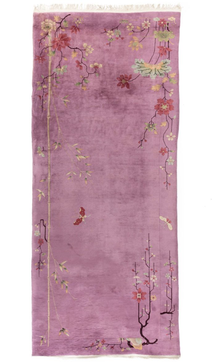 "Antique Art Deco Chinese Wide Runner 4'10""×11'5"""