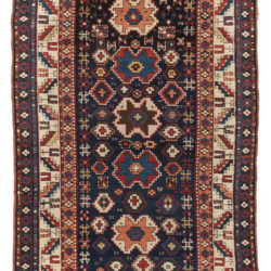 "Antique Azerbaijan Daghestan Prayer Tribal Rug 3'5""×6'0"""