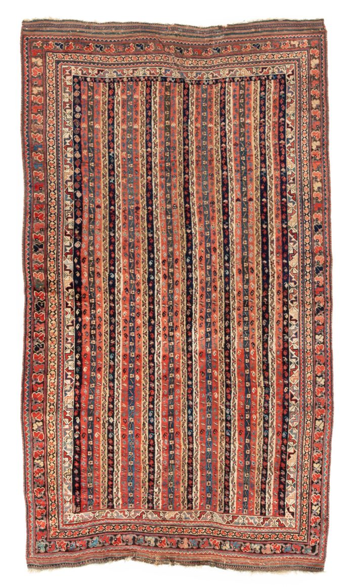 "Antique Bakhtiari Afshar 4'10""×8'0"""