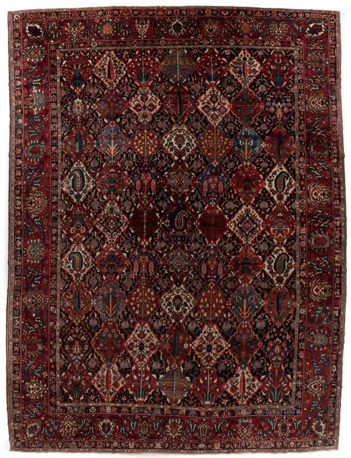 "Antique Bakhtiari Rug 15'0""×18'10"""