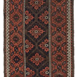 "Antique Belouchi Area Rug 3'1""×5'3"""