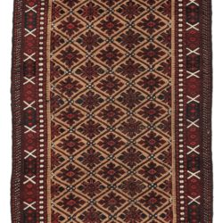 "Antique Belouchi Area Rug with All-Over Repeated Pattern 3'2""×5'8"""