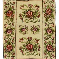 "Antique Bessarabian Tapestry Kilim 5'2""×8'5"""