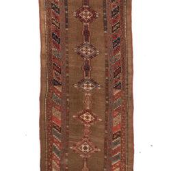 "Antique Camel Hair Serab Rug 3'6""×10'9"""