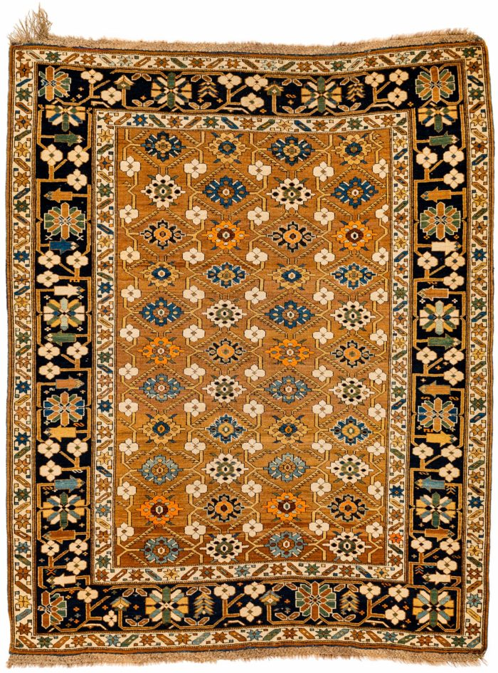 "Antique Caucasian Daghestan 4'0""×5'0"""