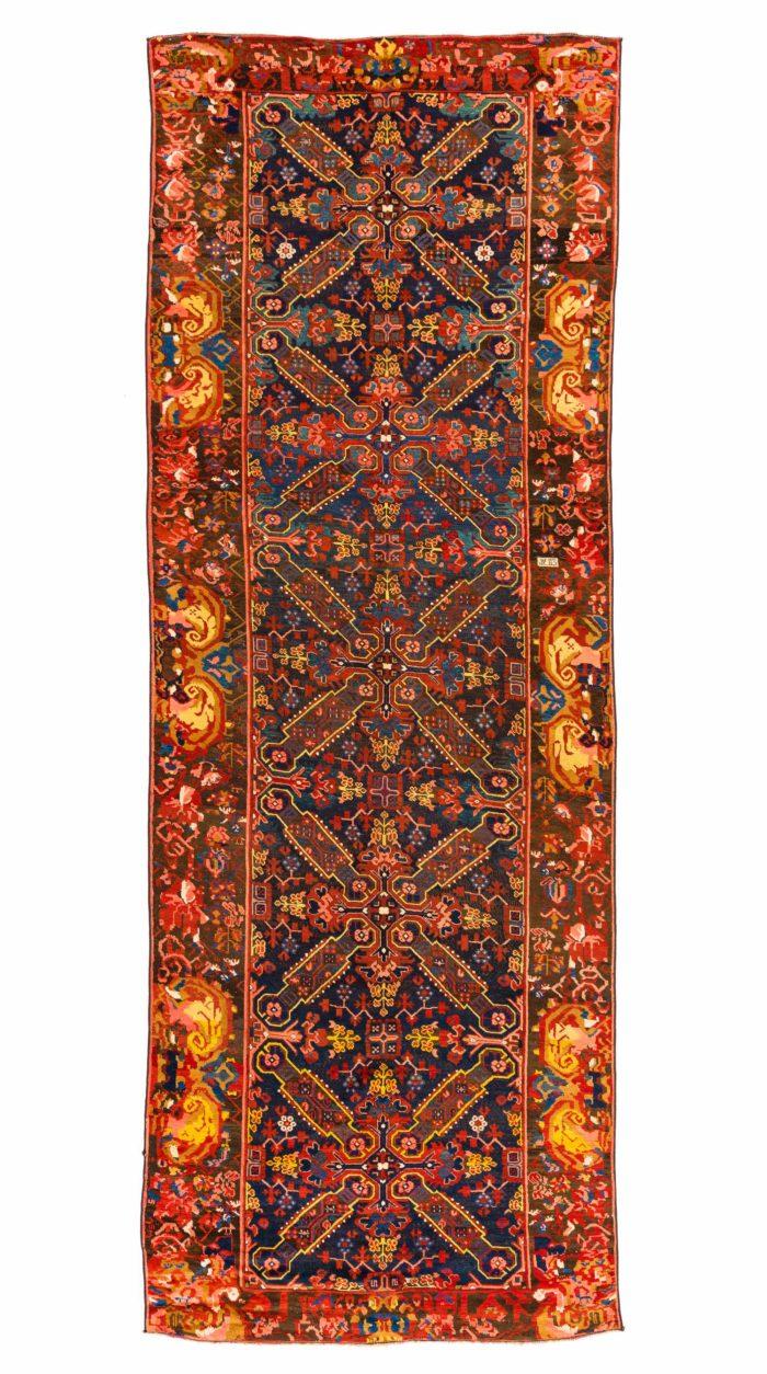 """Antique Caucasian Karabagh 4'6""""×12'7"""""""