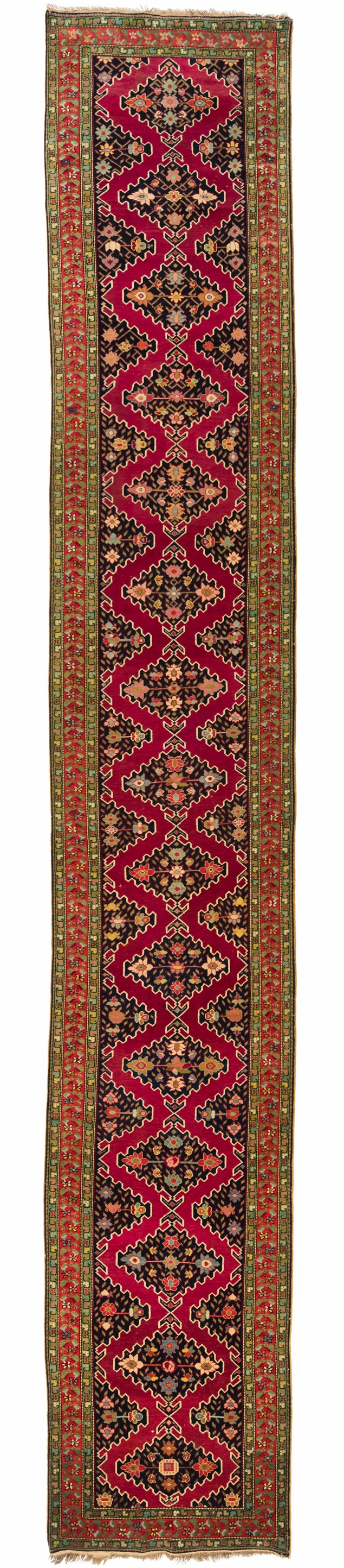 "Antique Caucasian Karabagh 3'3""×20'5"""