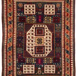 """Antique Caucasian Karachopt Kazak 5'7""""×7'5"""""""