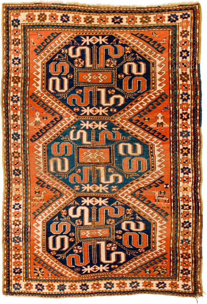"""Antique Caucasian Kazak 5'1""""×7'4"""""""