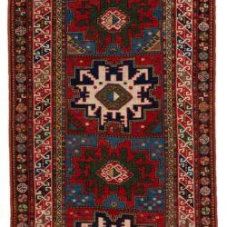 """Antique Caucasian Kazak 3'10""""×7'8"""""""
