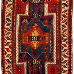 "Antique Caucasian Kazak Prayer 4'3""×6'9"""