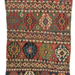 "Antique Caucasian Kuba Kilim 6'0""×11'4"""