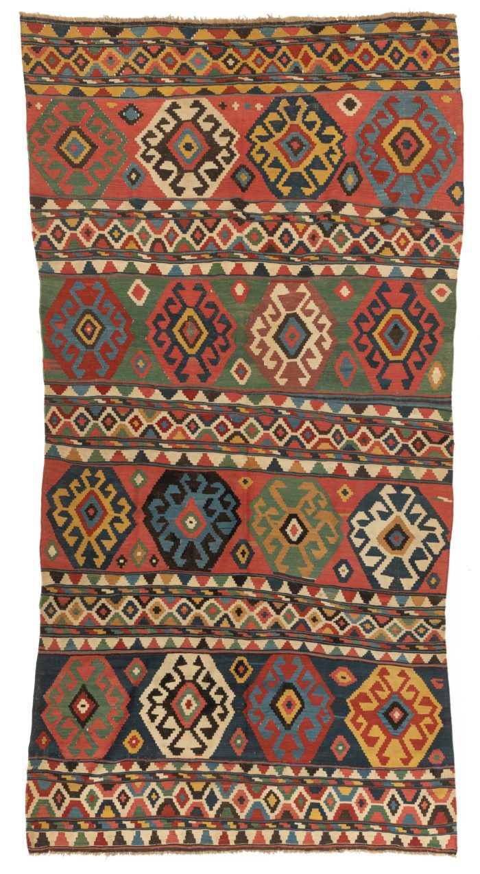 """Antique Caucasian Kuba Kilim 6'0""""×11'4"""""""