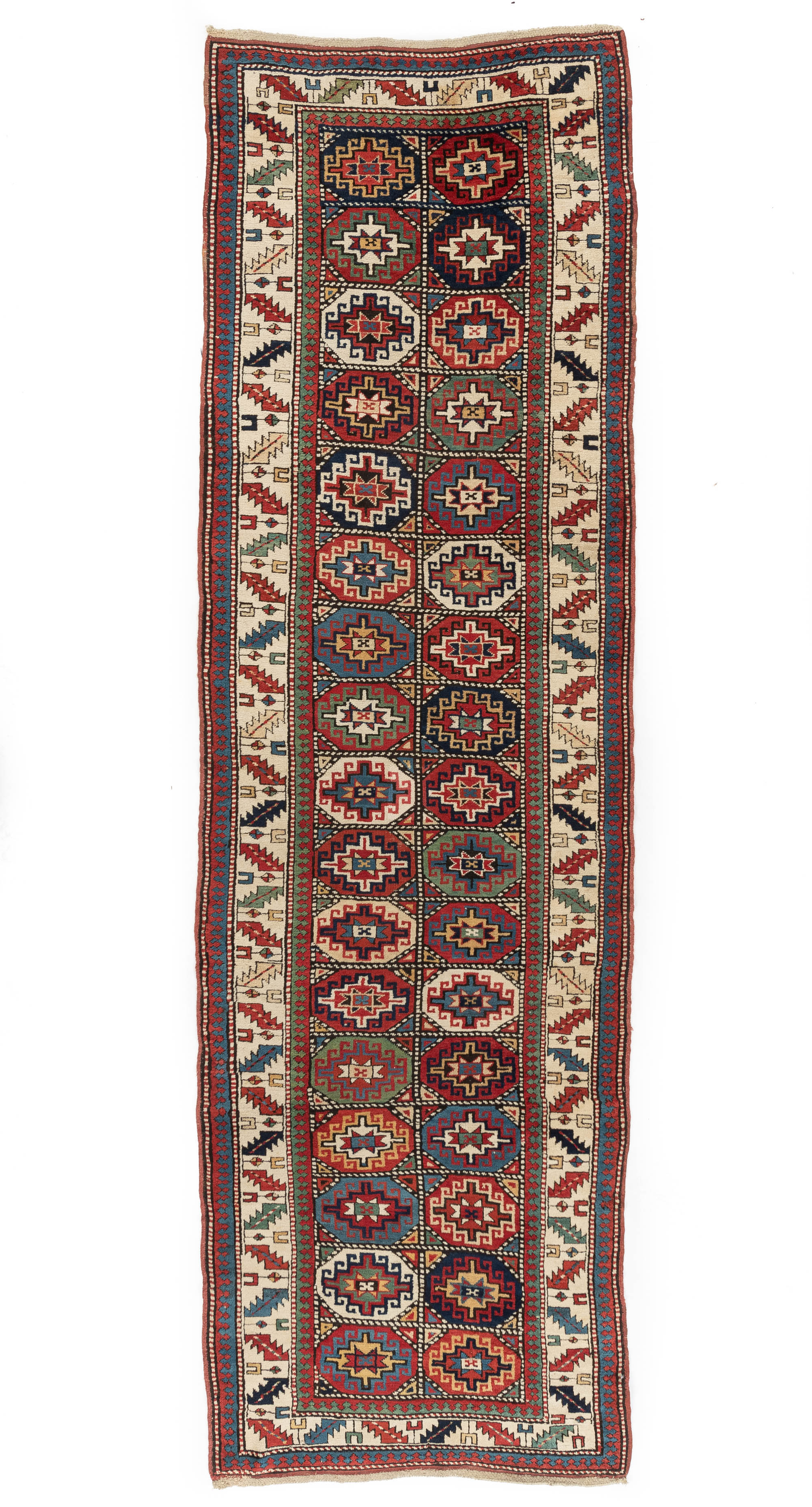 "Antique Caucasian Moghan 3'11""×12'8"""