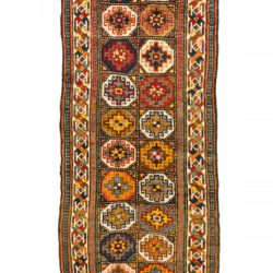 "Antique Caucasian Moghan Kazak 3'10""×10'0"""