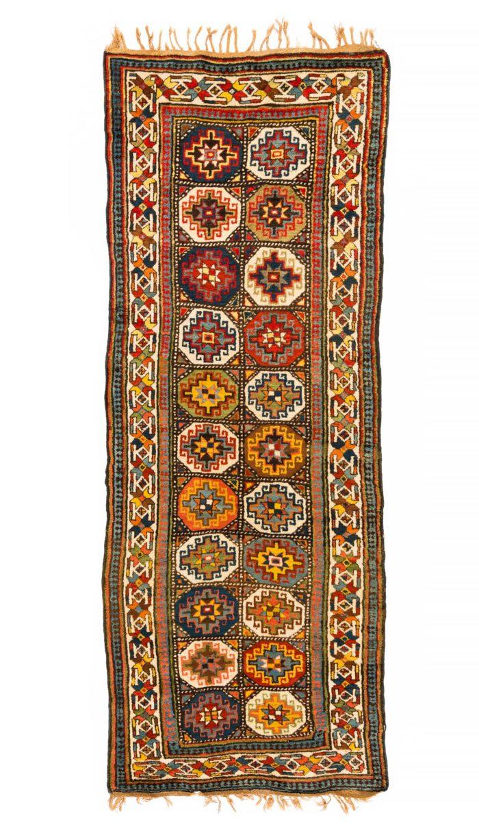 """Antique Caucasian Moghan Kazak 3'10""""×10'0"""""""