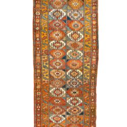 "Antique Caucasian Moghan Kazak 4'3""×12'10"""