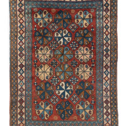 "Antique Caucasian Rug 3'5""×5'1"""
