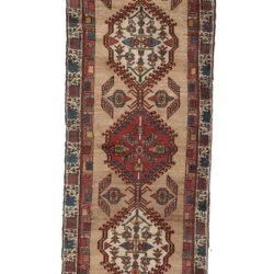 "Antique Caucasian Serapi Rug 2'9""×10'10"""