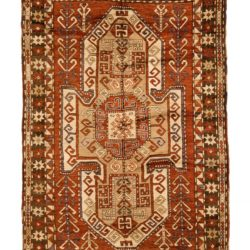 "Antique Caucasian Sewan Kazak 5'0""×7'8"""