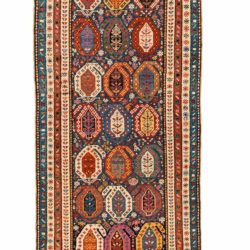 "Antique Caucasian Shirvan 3'7""×8'1"""