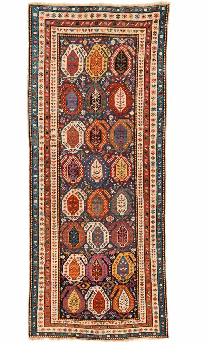 """Antique Caucasian Shirvan 3'7""""×8'1"""""""