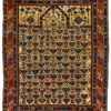 "Antique Caucasian Shirvan 3'8""×4'3"""
