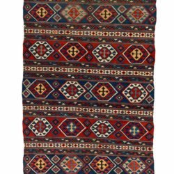 "Antique Caucasian Shirvan Kilim 5'3""×10'7"""