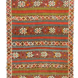 "Antique Caucasian Shirvan Kilim 6'1""×10'2"""