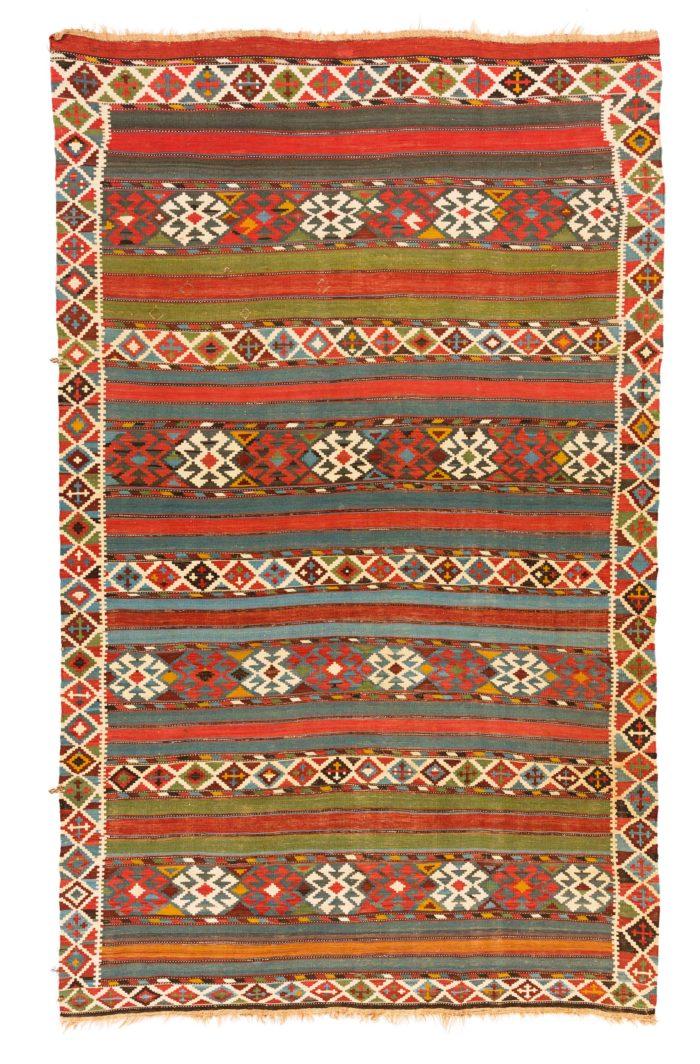 """Antique Caucasian Shirvan Kilim 6'1""""×10'2"""""""