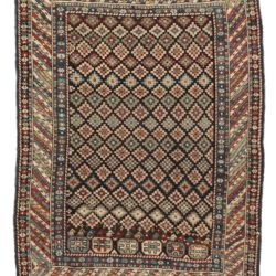 "Antique Caucasian Shirvan Rug 3'7""×4'9"""