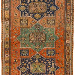 "Antique Caucasian Soumak 7'1""×10'6"""