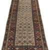 "Antique Caucasian Tribal Kuba Runner 3'8""×10'1"""