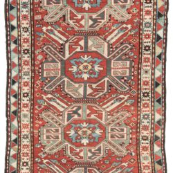 "Antique Caucasus Kazak Tribal Rug 4'3""×8'5"""