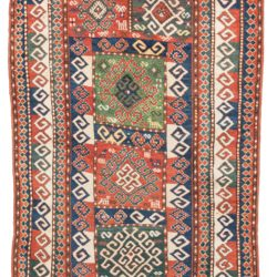"Antique Caucasus Kazak Tribal Rug 4'3""×7'5"""