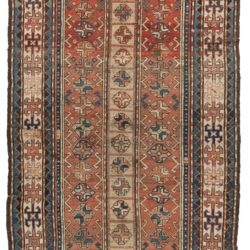 "Antique Caucasus Kazak Tribal Rug 4'11""×8'1"""