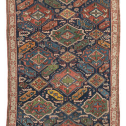 "Antique Caucasus Kuba Hand-Knotted Wool Tribal Rug 3'4""×5'7"""