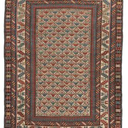"Antique Caucasus Kuba Rug 3'8""×5'0"""