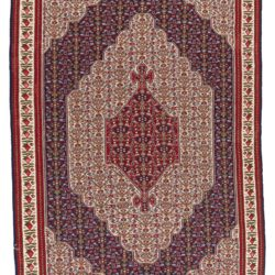 "Antique Caucasus Senneh Kilim 4'10""×7'4"""