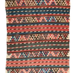 "Antique Caucasus Shirvan Kilim 4'6""×8'8"""