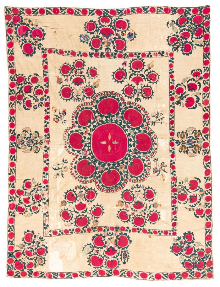 """Antique Caucasus Suzani 5'7""""×7'5"""""""