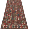 "Antique Cucasus Tribal Kazak Runner 3'8""×8'6"""
