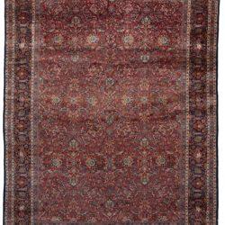 """Antique Dabir Kashan Rug 8'8""""×11'7"""""""